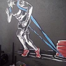Роспись на OSB стене.