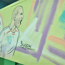 #росписьстен #граффити #спортивнаяарена #зидан #emastclub #nevaarena