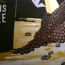 Художественное оформление кофейни BAGGINS Coffee, роспись стены, фрагмент.