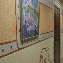 """Роспись стен в мини-отеле """"Приморский"""" #гостиница, #росписьстенспб,  #росписьстен, #настеннаяроспись, #декор, #росписьстенмосква, #путешествие, #design"""