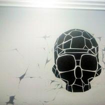 Роспись стены в шоу руме