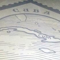 Художественное оформление барбершопа FIDEL, роспись стены, фрагмент.