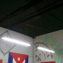 Художественное оформление барбершопа FIDEL, роспись стен, фрагмент.