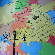 """Роспись стен в гостинице""""Черная Речка"""" в С-Петербурге  #росписьстенспб,  #росписьстен, #настеннаяроспись, #декор, #росписьстенмосква, #гостиница, #путешествие, #design"""