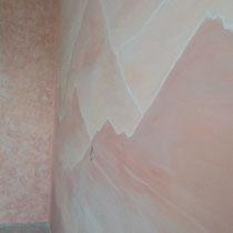 Спальная комната,  художественная роспись стен, общая покраска стен и потолка.