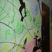 """Роспись в номерах и коридорах отеля """"Лето"""" в  С-Петербурге #росписьстенспб,  #росписьстен, #настеннаяроспись, #декор, #росписьстенмосква, #гостиница,  #отельLETO, #путешествие, #design"""