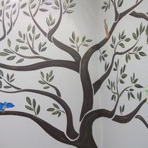 Роспись стен. Дерево жизни #лепнойдекор, #росписьстенспб,  #росписьстен, #настеннаяроспись, #декор, #росписьстенмосква, #путешествие, #design
