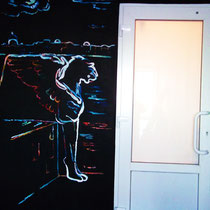 """Роспись стен в гостинице""""Новая"""" в Колпино  #росписьстенспб,  #росписьстен, #настеннаяроспись, #декор, #росписьстенмосква, #гостиница, #путешествие, #design"""