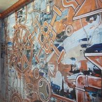 Роспись стен в номерах гостиницы в Санкт-Петербурге на наб. реки Фонтанки, д. 56  #росписьстенспб,  #росписьстен, #настеннаяроспись, #декор, #росписьстенмосква, #гостиница, #путешествие, #design