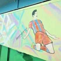 #росписьстен #граффити #спортивнаяарена #левандовский #emastclub #nevaarena