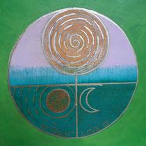 Aura-Soma® Nr.34 Geburt der Venus(Seien wer ich bin), Aura-Soma® Nr.7 Garten von Gethsemane (Glaube und Vertrauen)