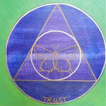 Aura-Soma® Nr.16 Das violette Gewand (Spirituelle Hingabe), Aura-Soma® Nr. 7 Garten von Gethsemane (Glaube und Vertrauen)