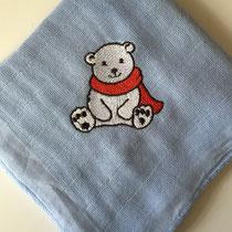hellblau mit Eisbär
