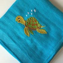 türkis mit Schildkröte