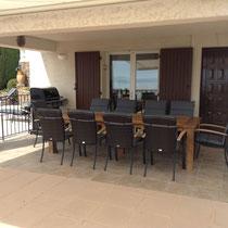 meubles de jardin confortables et généreux pour 10 personnes