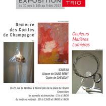 Exposition TRIO - Couleurs, matières, lumières - Isabeau - Chevigny - Saint Remy