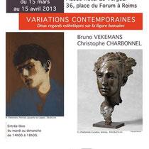 Exposition Variations Contemporaines - Deux regards esthétiques sur la figure humaine - Christophe Charbonnel et Bruno Vekemans