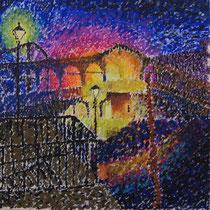 Carolin Holt, pointillistische Arbeit