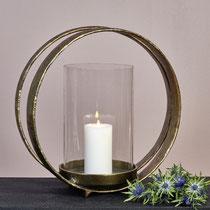 Lumberto Windlicht: Aluminium Bronze antik ,H 45,5 cm B 45 cm  CHF 353,00