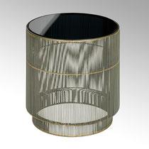 Sanuki Beisteller Gestell Eisendraht, Platte Glas rauchgrau H 47 cm, D 42 cm CHF 366,00