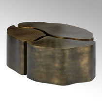 Tischset Eisen Bronze antik 102 x 76 cm H 39 cm