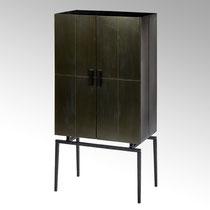Loft Kabinettschrank H 143cm, 40 x 70 cm Metall dunkel bronze