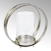 Lumberto Windlicht: Aluminium nickel matt oder Bronze antik ,H 45,5 cm B 45 cm  CHF 353,00