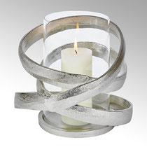 Lombardo Windlicht : Aluminium , Nickel matt oder Bronze Antik H 28 cm D 39 cm CHF 214,00