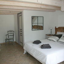 the ground floor with the double bed