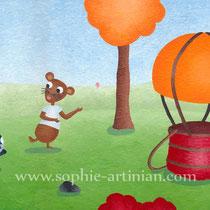 Illustration pour un projet de livre : «Lina et la logolphière», texte écrit par Marie Wilmer.