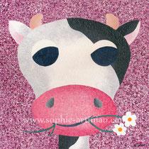 Oh les vaches ! Acrylique sur toile. Format 30x30 cm (novembre 2011)
