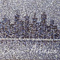 Brume hivernale. Huile sur toile en coton. Format 60x30 cm. Août 2016.