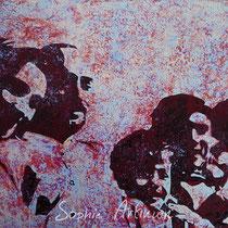 Portrait de famille. Huile sur carton entoilé. Format 33x22 cm. Août 2020.
