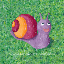 Illustration d'une comptine pour enfant : Petit escargot.