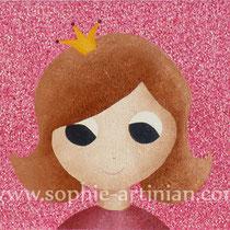 Quand je serai grande... je serai une princesse ! - Acrylique sur toile, format 90x30cm (décembre 2011).