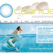 2010 - www.institut-oceanides.fr (institut de beauté à Aurillac) - Site vitrine