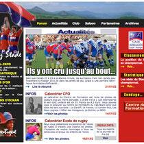 2000 à 2002 - www.stade-aurillacois.fr (site officiel, élu meilleur site d'Auvergne en 2002) - Conception générale, webmaster