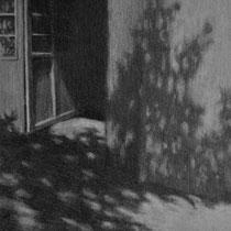 die tür nach draußen, 2015;  bleistift auf papier, 18x23cm
