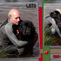 Loïs , câlins avec son papa