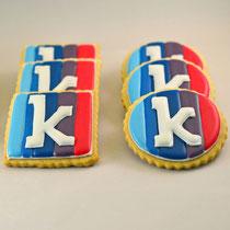 Kroodle bedrijfslogo koekjes