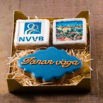 NVVB bedrijfslogo koekjes