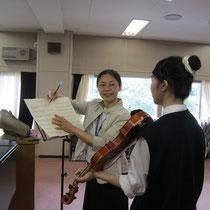 坂本真理先生(器楽コース 弦楽器・管打楽器専修:ヴァイオリン)