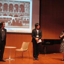 声楽・オペラコース主任の島崎智子先生より御礼の言葉。