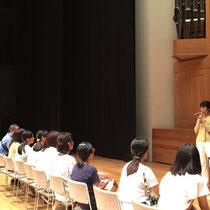 松居直美先生の体験授業「触れてみよう!パイプオルガン」