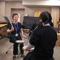 山本真理子先生(器楽コース 弦楽器・管打楽器専修:打楽器)