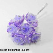 6 fiori con brillantino € 1,50