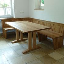 Tisch und Eckbank aus Eiche