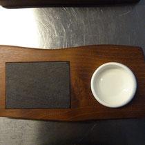 Brettchen für Butter und Olivenöl