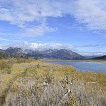 Auf dem Weg zurück: der Blick Richtung Kluane See