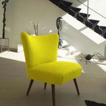 CHAUFFEUSE COCKTAIL - Restauration complète - Tissu lin Designers Guild